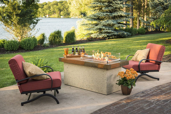Picture of Outdoor Great Room Artisan Fire Pit Table - Brown