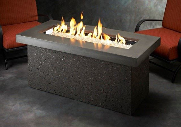 Picture of Outdoor Great Room Key Largo Fire Pit with Midnight Mist Supercast Top