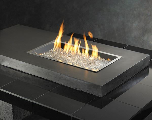 Picture of Outdoor Great Room Uptown Black Fire Pit Table with Tile Top