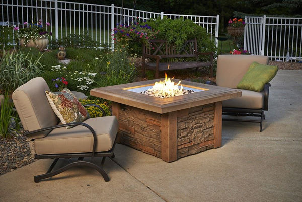 Picture of Outdoor Great Room Sierra Fire Pit with Supercast Mocha Square Top