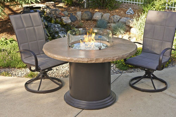 """Picture of Outdoor Great Room Colonial 30"""" Dining Table with 48"""" Round Mocha Top"""