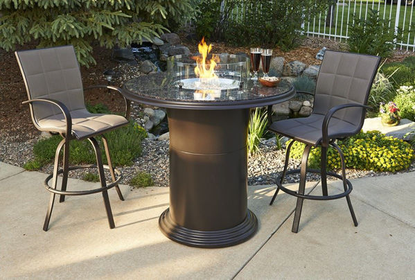 """Picture of Outdoor Great Room Colonial 42.5"""" Pub Table with 48"""" British Granite Top"""