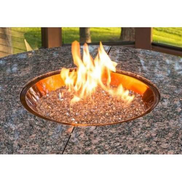 """Picture of Outdoor Great Room 20"""" Round Crystal Fire Burner with Auto Ignition System"""