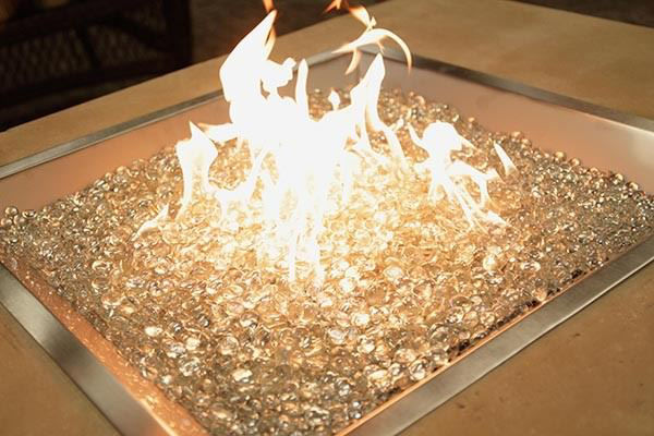 Picture of Outdoor Great Room 24' X 24' Square Crystal Fire Burner with Glass Fire Gems