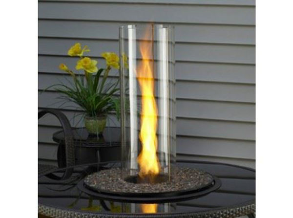 """Picture of Outdoor Great Room Crystal Spin - 20"""" Round Crystal Fire Burner with Glass Gems"""