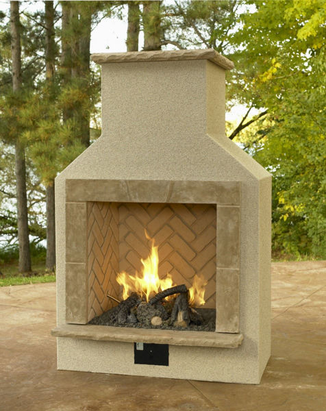 Picture of Outdoor Great Room Sanjuan Fireplace Surround with Cf-1224 Burner