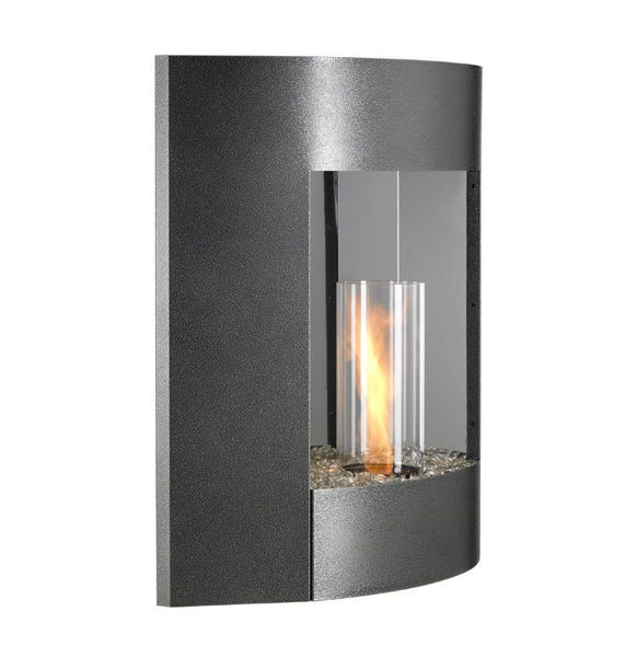 Picture of Outdoor Great Room Wall Hanging Gel Fireplace Black Finish
