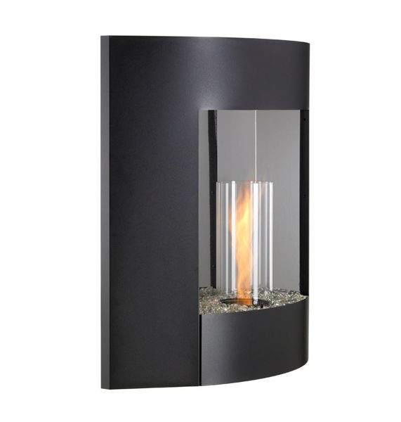 Picture of Outdoor Great Room Wall Hanging Gel Fireplace Silver Vein Finish