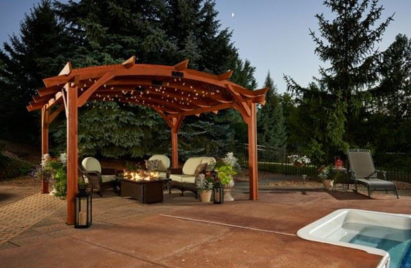 Picture of Outdoor Great Room Sonoma 16 Redwood Base Unit with Crate And Hardware