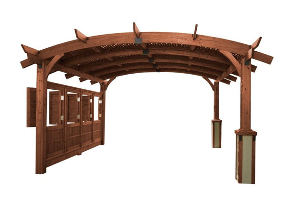 Picture of Outdoor Great Room Sonoma 16 Redwood Wall with Opening Windows