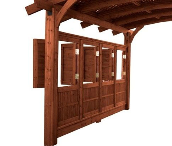 Picture of Outdoor Great Room Sonoma 16 Mocha Wall with Opening Windows