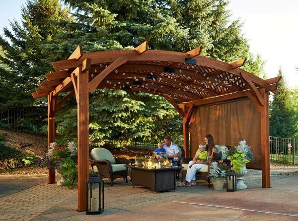 Picture of Outdoor Great Room Sonoma 12 X 16 Redwood Structure with Hardware