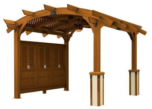 Picture of Outdoor Great Room Sonoma 12 Redwood Base Unit with Crate And Hardware
