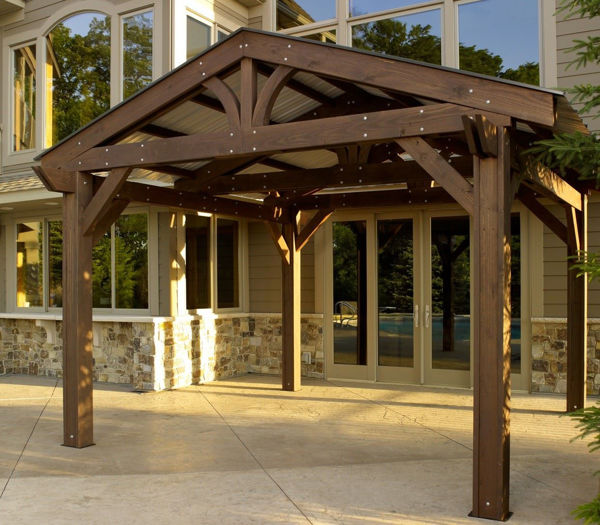 Picture of Outdoor Great Room Metal roof for Lodge II Forest Green