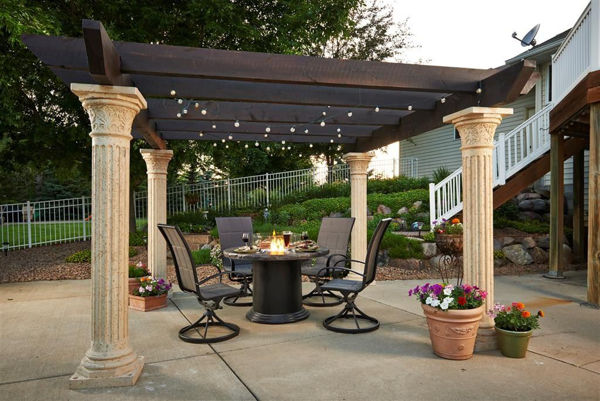 Picture of Outdoor Great Room Tuscany Pergola Wood Beams