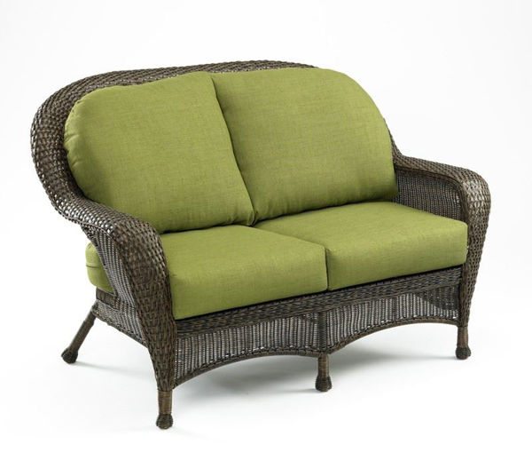 Picture of Outdoor Great Room Loveseat Cushion in Spectrum Cilantro