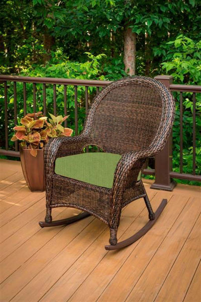 Picture of Outdoor Great Room High Back Rocker Cushion in Spectrum Cilantro