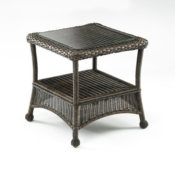 Picture of Outdoor Great Room Balsam Collection End Table Glass Top
