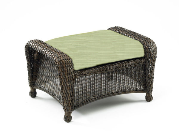 Picture of Outdoor Great Room Ottoman Cushion in Dupione Aloe