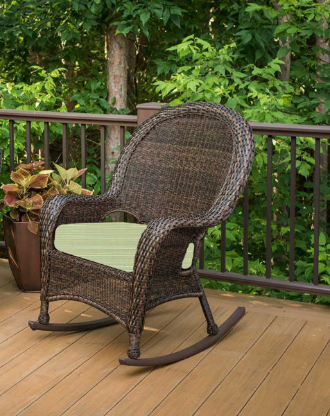 Picture of Outdoor Great Room High Back Rocker Cushion in Dupione Aloe