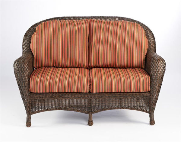 Picture of Outdoor Great Room Loveseat Cushion in Dorsette Cherry