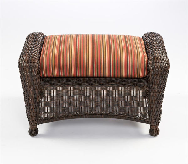 Picture of Outdoor Great Room Ottoman Cushion in Dorsette Cherry