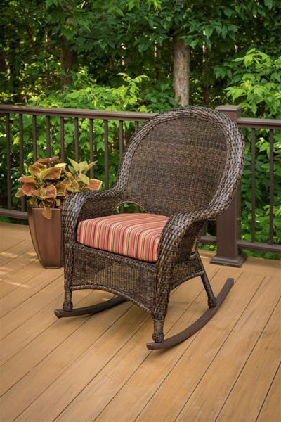 Picture of Outdoor Great Room High Back Rocker Cushion in Dorsette Cherry