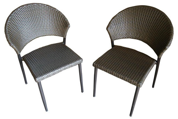 Picture of Outdoor Great Room Resin Wicker Chair for Patio Bistro Table