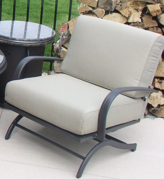 Picture of Outdoor Great Room Chat Rocking Chairs With Taupe Cushions