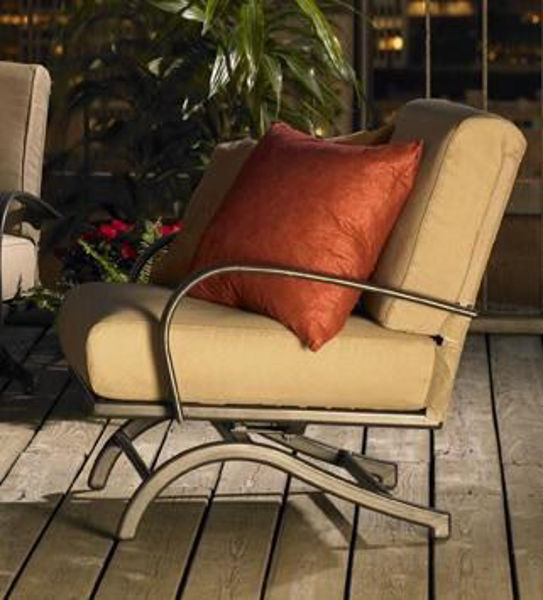 Picture of Outdoor Great Room Chat Rocking Chairs Tan Cushions