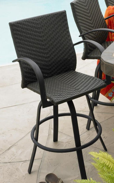 Picture of Outdoor Great Room Leather Wicker Bar Stool