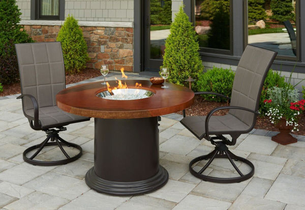 """Picture of Outdoor Great Room Colonial 30"""" Dining Table With 48"""" Artisan Top burner cover"""