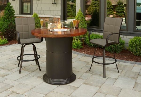 "Picture of Outdoor Great Room Colonial 42.5"" Pub Table With 48"" Artisan Top burner cover"