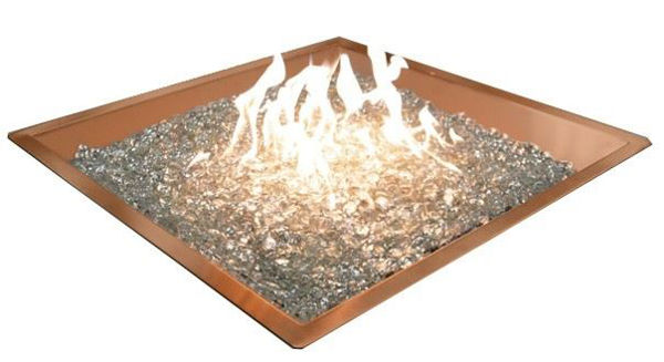 Picture of Outdoor Great Room 24' X 24' Square Crystal Fire Copper Burner With Glass Fire Gems