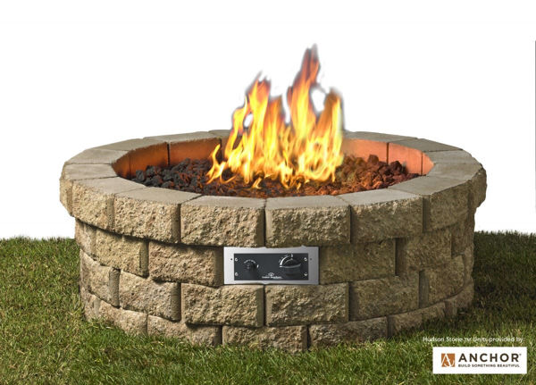 "Picture of Outdoor Great Room Hudson Fire Pit 46"" Burner Kit"