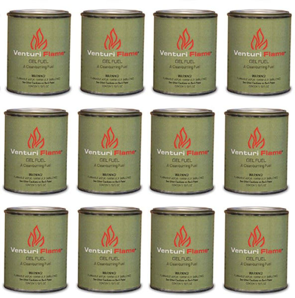 Picture of Outdoor Great Room Real Flame Gel Fuel - 12 Pack Of 13Oz Cans