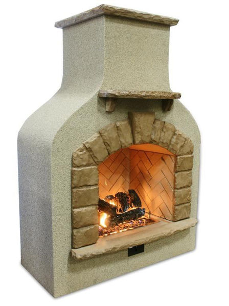 Picture of Outdoor Great Room Sonoma Fireplace Surround Mocha Burner