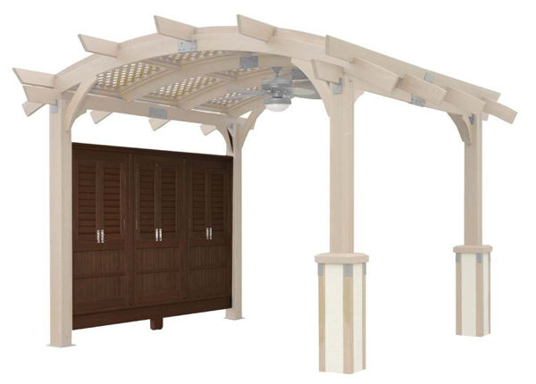 Picture of Outdoor Great Room Sonoma 12 Mocha Wall With Opening Windows