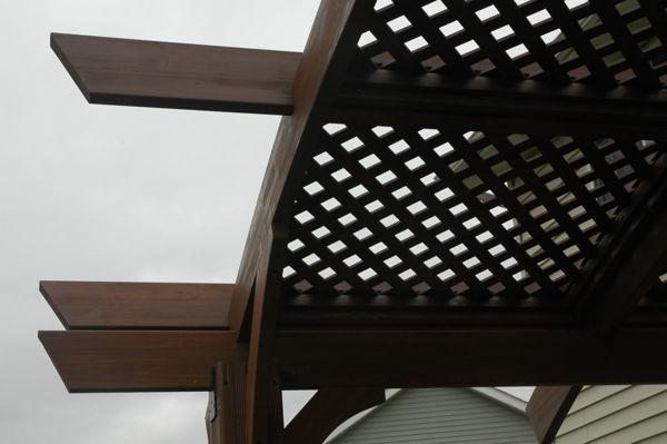 Picture of Outdoor Great Room Sonoma 12 Mocha Lattice