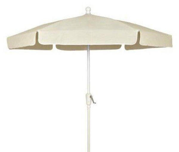 Picture of FiberBuilt 7.5 Ft Garden Umbrellas with Crank Lift - White Finish