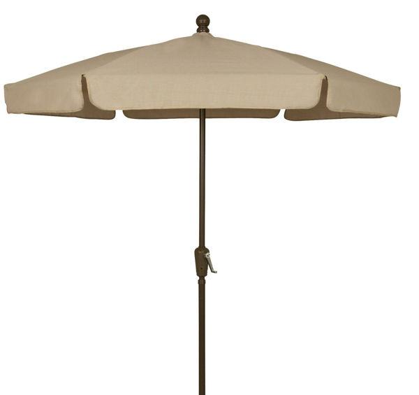 Picture of FiberBuilt 7.5 Ft Garden Umbrellas with Crank Lift - Champagne Bronze Finish