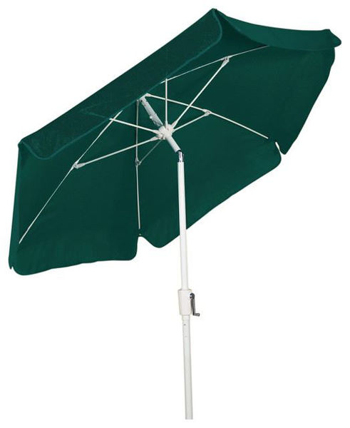 Picture of FiberBuilt 7.5 Ft Garden Umbrellas with Crank and  Tilt- White Finish