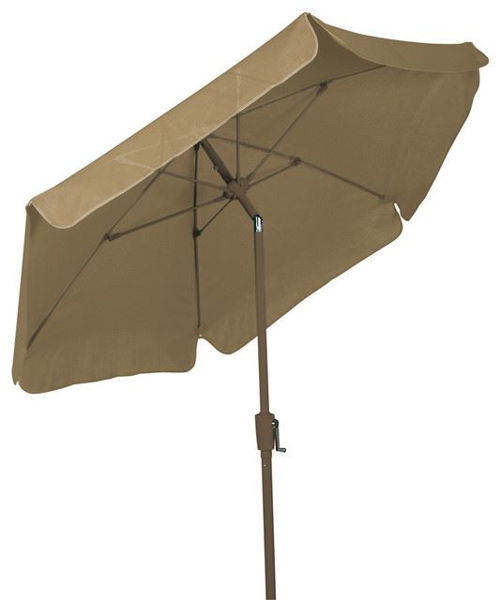 Picture of FiberBuilt 7.5 Ft Garden Umbrellas with Crank and  Tilt - Champagne Bronze Finish