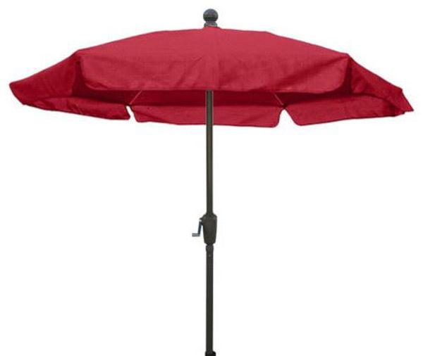 Picture of FiberBuilt 7.5 Ft Garden Umbrellas with Push Up Lift - Champagne Bronze Finish