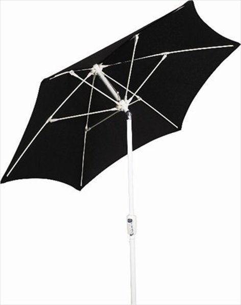 Picture of FiberBuilt 7.5 Ft Patio Umbrellas with Crank Lift - White Finish
