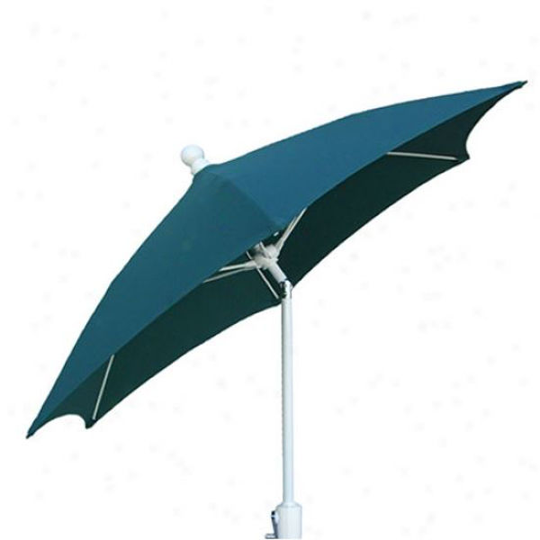 Picture of FiberBuilt 7.5 Ft Patio Umbrellas with Crank Lift and Tilt - White Finish