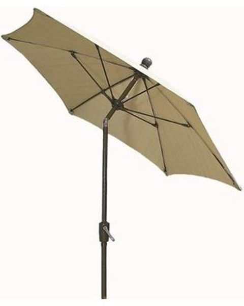 Picture of FiberBuilt 7.5 Ft Patio Umbrellas with Crank Lift and Tilt - Champagne Bronze Finish