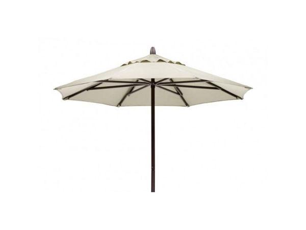 Picture of FiberBuilt 7.5 Ft Patio Umbrellas with Pusp Up Lift - Bright Aluminum Finish