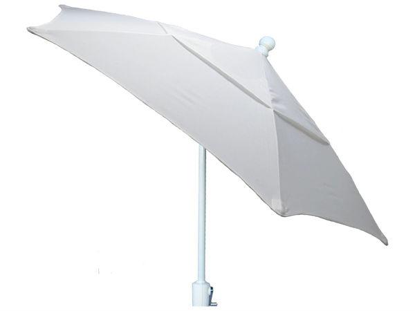 Picture of FiberBuilt 9 Ft Patio Umbrellas with Crank Lift - White Finish