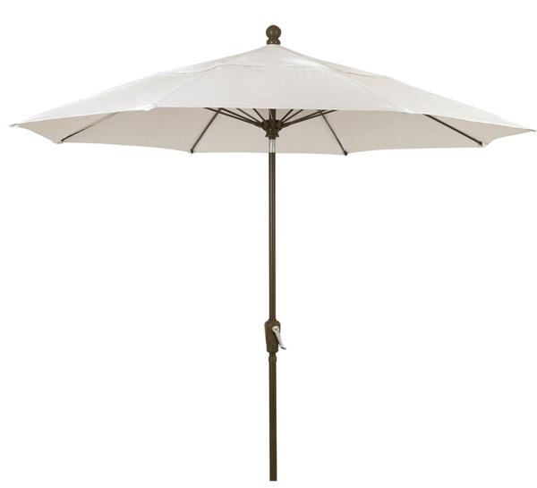 Picture of FiberBuilt 9 Ft Patio Umbrellas with Crank Lift - Champagne Bronze Finish